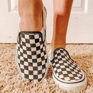 Women's checkered Vans